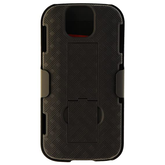 outlet store 32181 4a9ad Amazon.com: Verizon OEM Shell/Holster Combo with Kickstand for ...