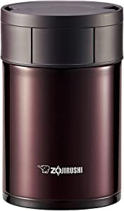 ZOJIRUSHI Stainless Steel Food Jar (450ml Capacity) Bordeaux SW-HB45-VD