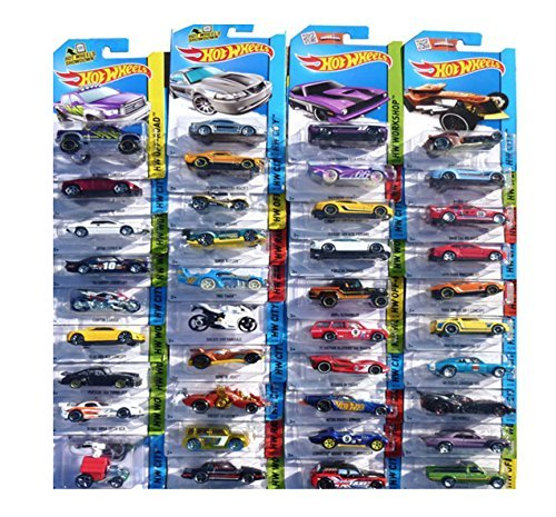 Hot Wheels 24-Car Random Assortment Party Pack 2014 and Newer - 64 Hot Wheels Racing