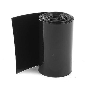 sourcingmap/® 50mm//30mm PVC Heat Shrink Tubing Black 5m 16.4ft for 2 x 18650 Battery