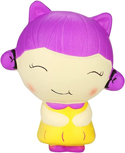 Amazon Com Loneflash Squeeze Toy For Stress Relief Chinese Girl Cartoon Slow Rising Fruit Scented Toys Toys Games
