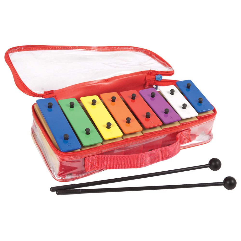 Performance Percussion PP3233 8 Notes Coloured Chime Bars with Bag by Performance Percussion