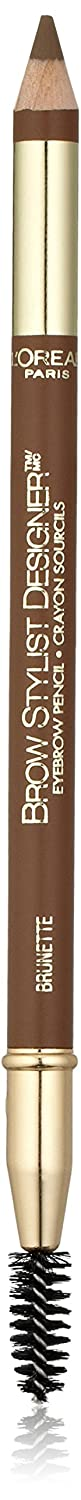 L'Oreal Paris Brow Stylist Designer Eyebrow Pencil, Brunette [310] 0.045 oz