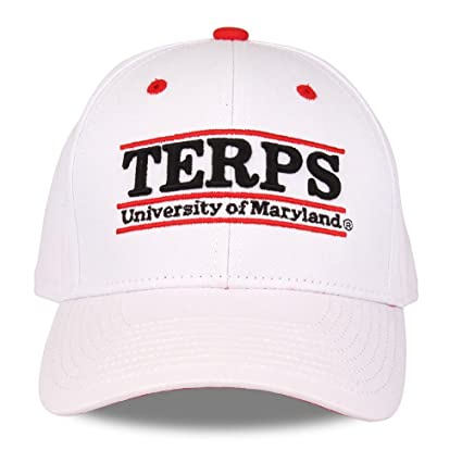 new arrivals d8d6c a81d4 Image Unavailable. Image not available for. Color  NCAA Maryland Terrapins Unisex  NCAA The Game bar Design Hat, White ...