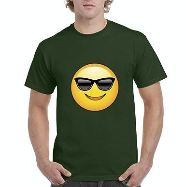 Artix Emoji con gafas de sol camiseta para hombre T - Verde ...