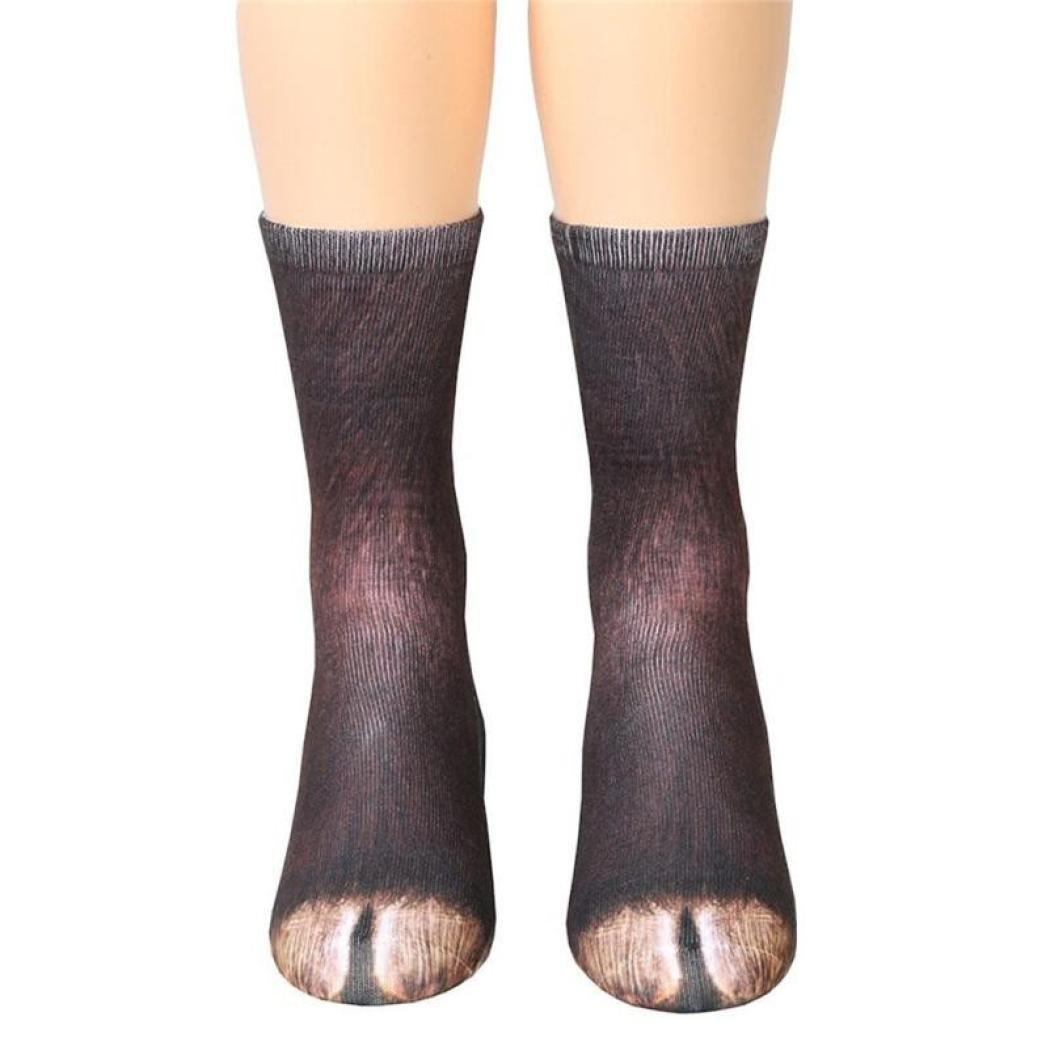Animal Feet Socks, Alonea Children Kids Crazy Novelty Animal Paw Crew Funny Socks Sublimated Print Socks 6-12 Years