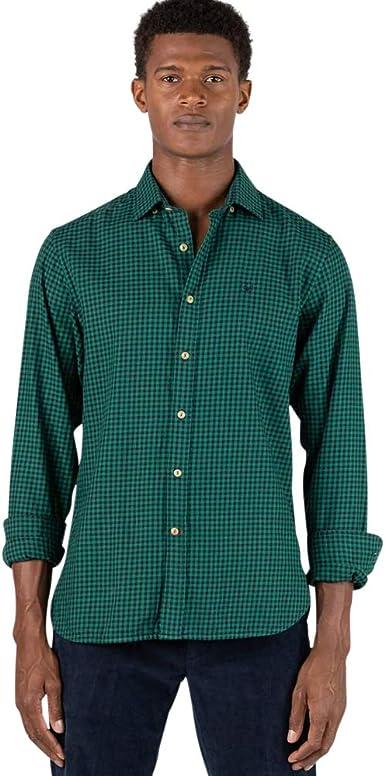El Ganso - Colección AW19 - Camisa de Franela de Cuadros Vichy - para Hombre - Manga Larga: Amazon.es: Ropa y accesorios