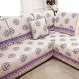 HDVHXVHJWCXHXF Fabric of The Four Seasons/Sofa Cushions/European Anti-Skid,Sofa Sets of Hood/Simple Modern,Fashion,Solid Wood Cushion-F 110x180cm(43x71inch)