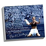 World Cup Soccer United States 22x26 Brandi Chastain Facsimile 'World Cup Game Winning Penalty Kick' Story Stretched Canvas