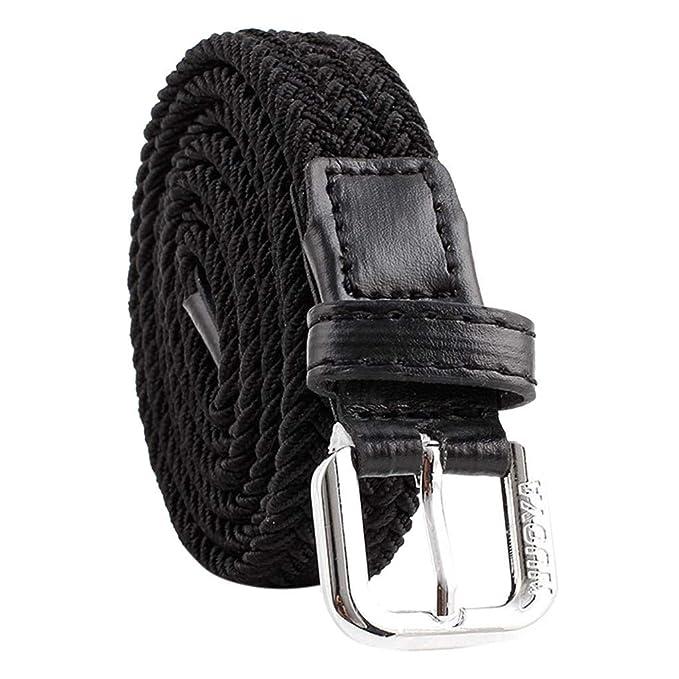 Amazon.com: Cinturón para mujer de color sólido con hebilla ...