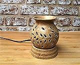 FnP's Ethnic Electric Aroma Diffuser | Round Shape Burner | Fragrance: Lemongrass