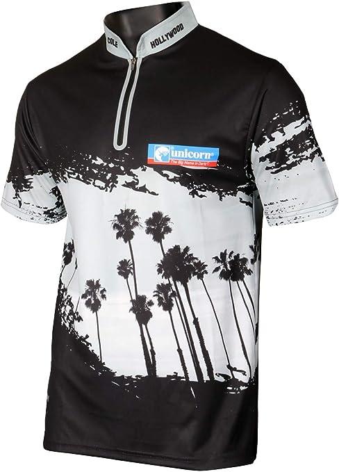 Unicorn - Camiseta Oficial de Dardos de Chris Dobey 2019, Unisex Adulto, Camisa de Dardos, 806CDM, Negro y Plateado, M: Amazon.es: Deportes y aire libre