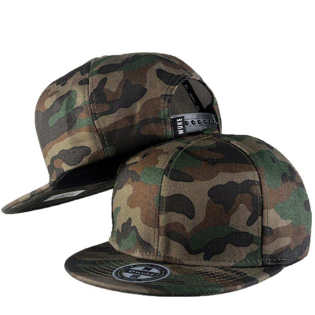 Kolylong Men Women Camouflage Baseball Cap Fashion Printed Cap Snapback Hat Hip-Hop Adjustable Cap