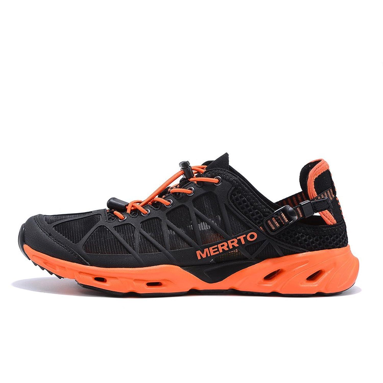 Men's Outdoor Trekking Shoes (9 Black Orange)