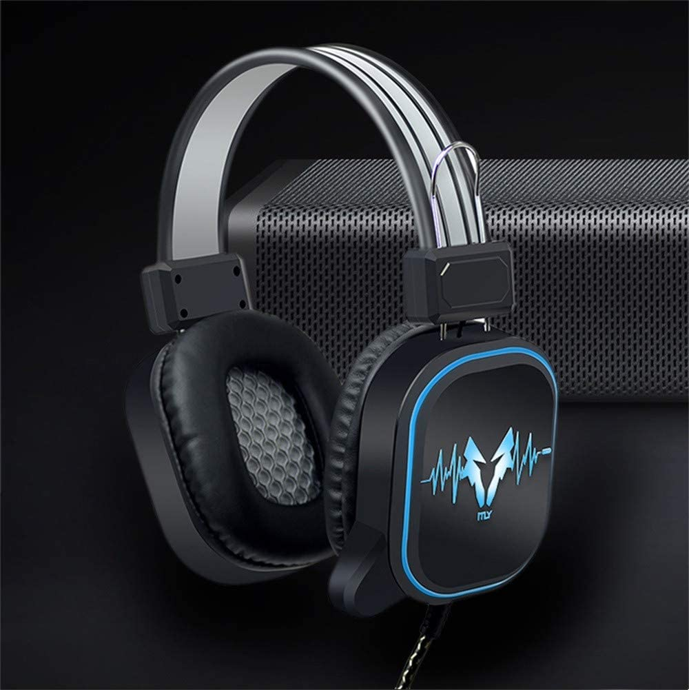 DS-100 3.5MM Wired Earphone Gaming Headphone Headset Mic Noise Cancelling for PC with Super Bass 3D Surround Sound User-Friendly Design E-64 Denzar HiFi Stereo Gaming Headset