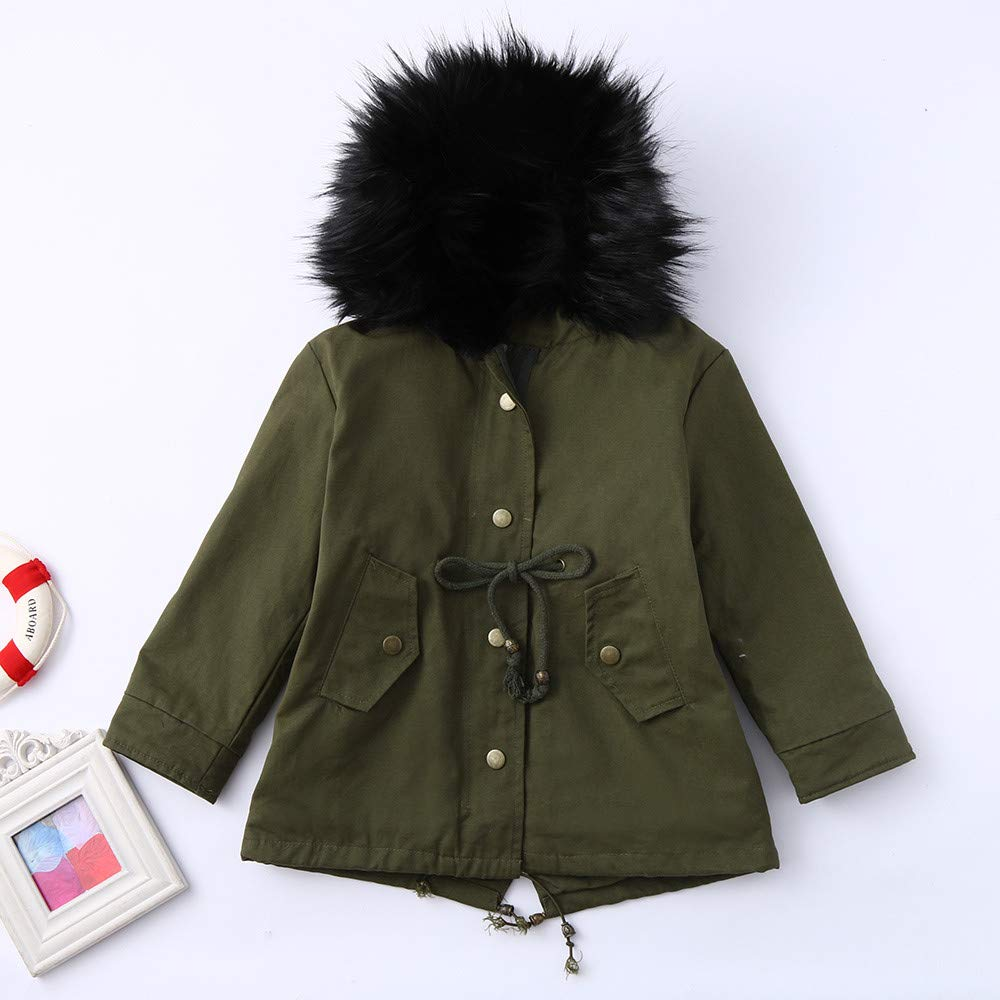Cyhulu Toddler Child Boy Girls Fashion Winter Coats Hooded Jacket Outfits Set