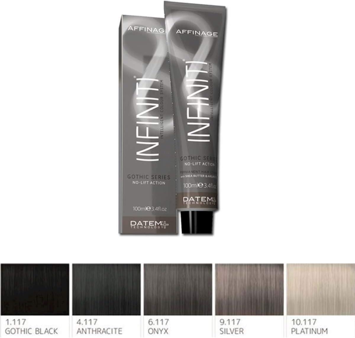 affinage Infiniti gótico gris serie permanente pelo color 6.117 Onyx