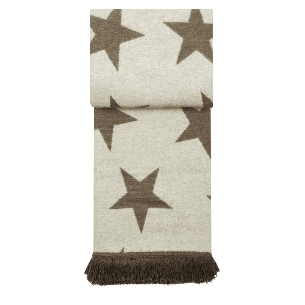 Pad Wolldecke Star Farbe beige