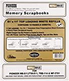 """Pioneer Photo Albums Rw85 8.5"""" X 11"""" White Top Loading Scrapbook Refill Pages"""