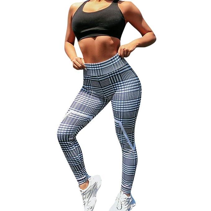 RISTHY Leggins Pantalones Yoga Correr Deportivos Mujer ...