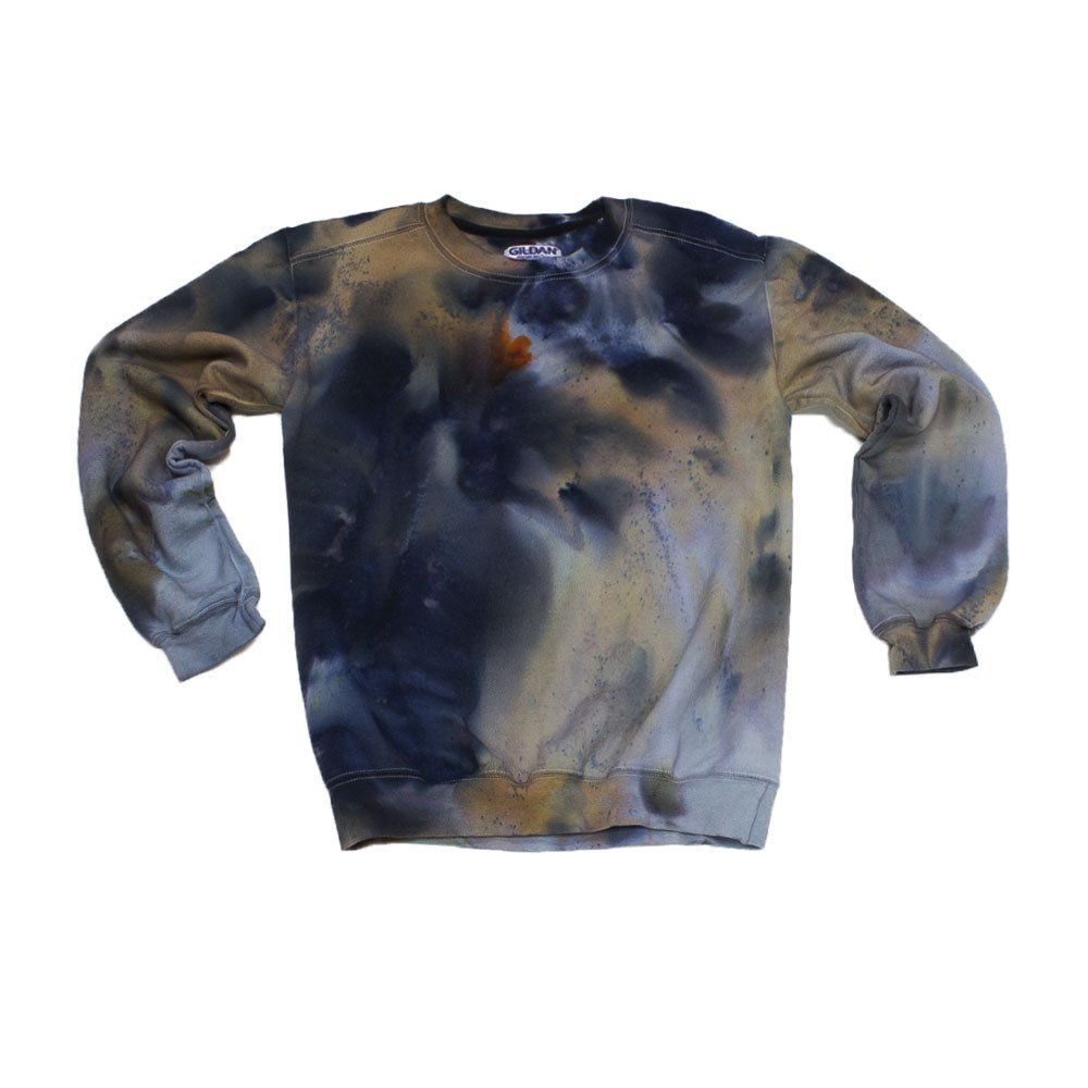 Black Grey Tie Dye Sweatshirt Unisex Festival Hoodie Grateful dead Plus Size S, M, L, XL, XXL