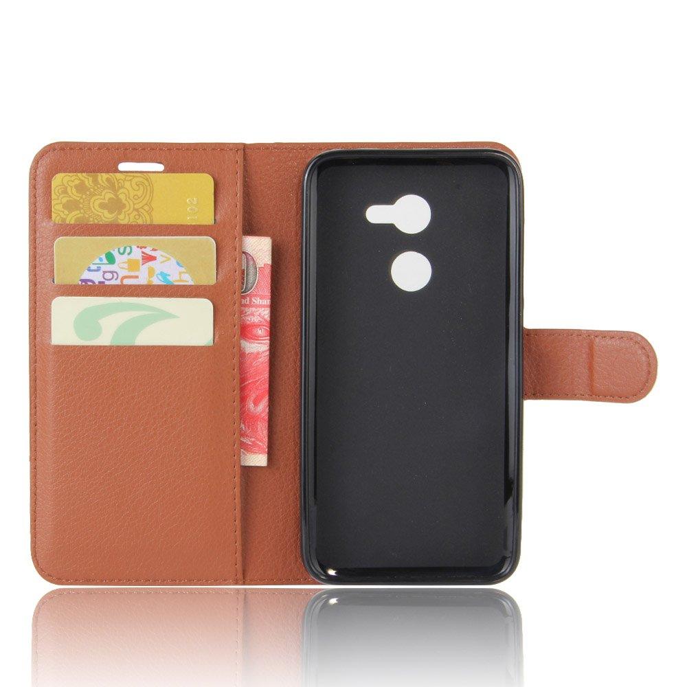Nadakin Alcatel A3 5.0 inch Calidad Premium Cartera de Cuero con Carcasa de Tel/éfono Flip Funda con Soporte Magnetico de Cierre para Alcatel A3 5.0 inch marr/ón