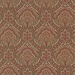Beacon House 2604-21218 Cypress Paisley Damask Wallpaper, Burgundy