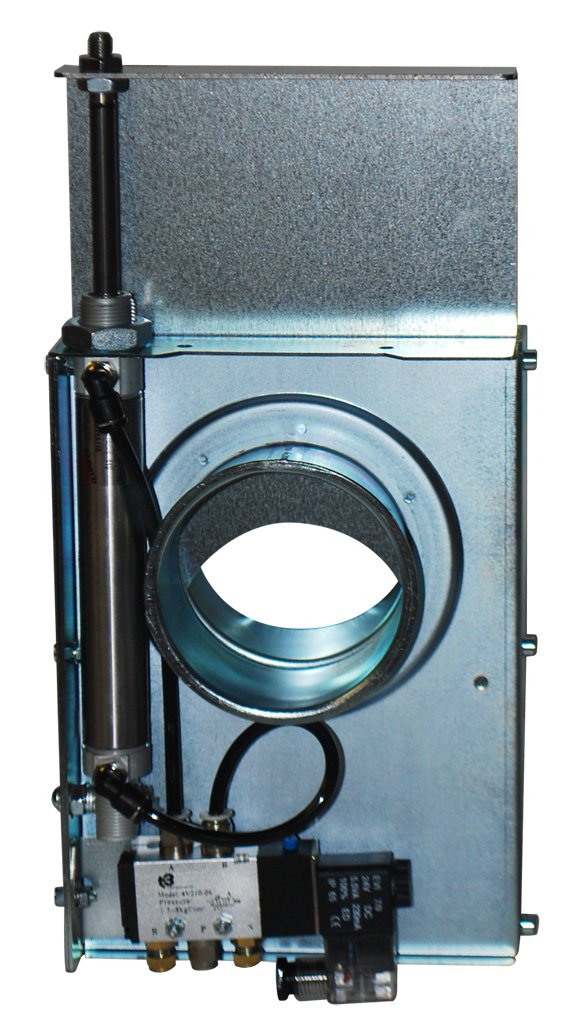 Automatic Blast Gate (Pneumatic) - Industrial Grade - 5'' Dia. / 24v Solenoid by Bluefin Auto-Gates