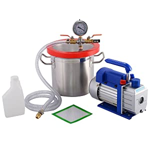 Goplus New 2 Gallon Vacuum Chamber and 3 CFM Single Stage Pump Degassing Silicone Kit