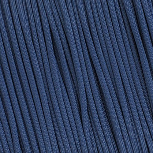 Paracord 7 Strand 550lb - Tested 100 Foot - Many Uses - USA Made (FS Navy Blue) (Paracord Triple)