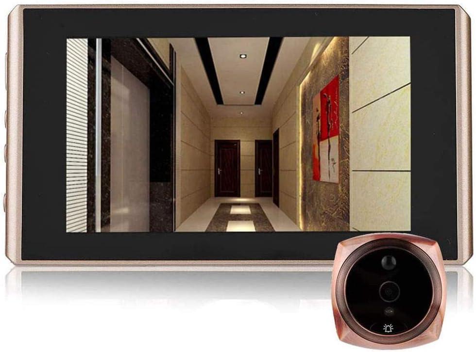 Mini HD Visor de Mirilla de Puerta Digital con Pantalla LCD de 3.5 Pulgadas Timbre de Video Digital con /Ángulo de Visi/ón S/úper Amplio hasta 120 /° Orificio de Ojo 720P HD Visor de Puerta Digital
