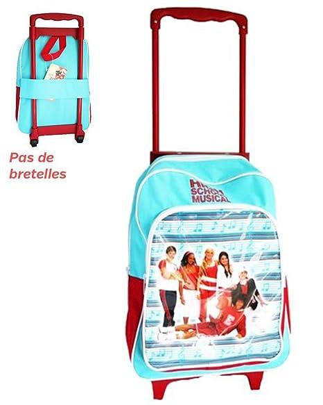 Carrito con ruedas, diseño de High School Musical-Mochila escolar para niño, color