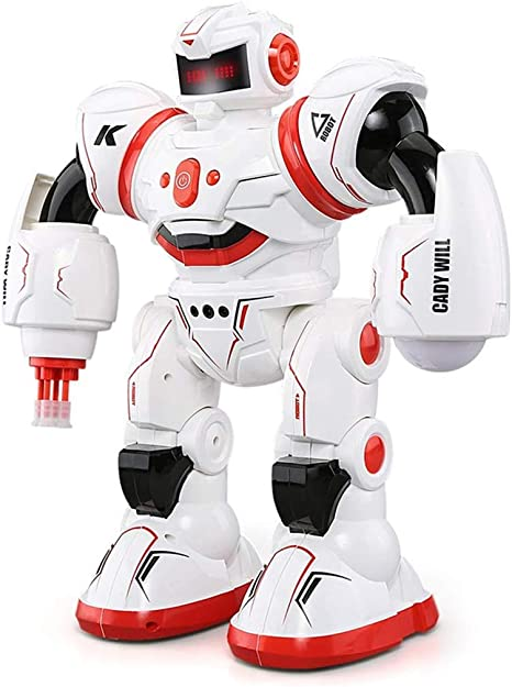 Robot Combattente Spazio RC Radio Telecomando R//C Walk Dance sparare Slide Giocattolo Regalo