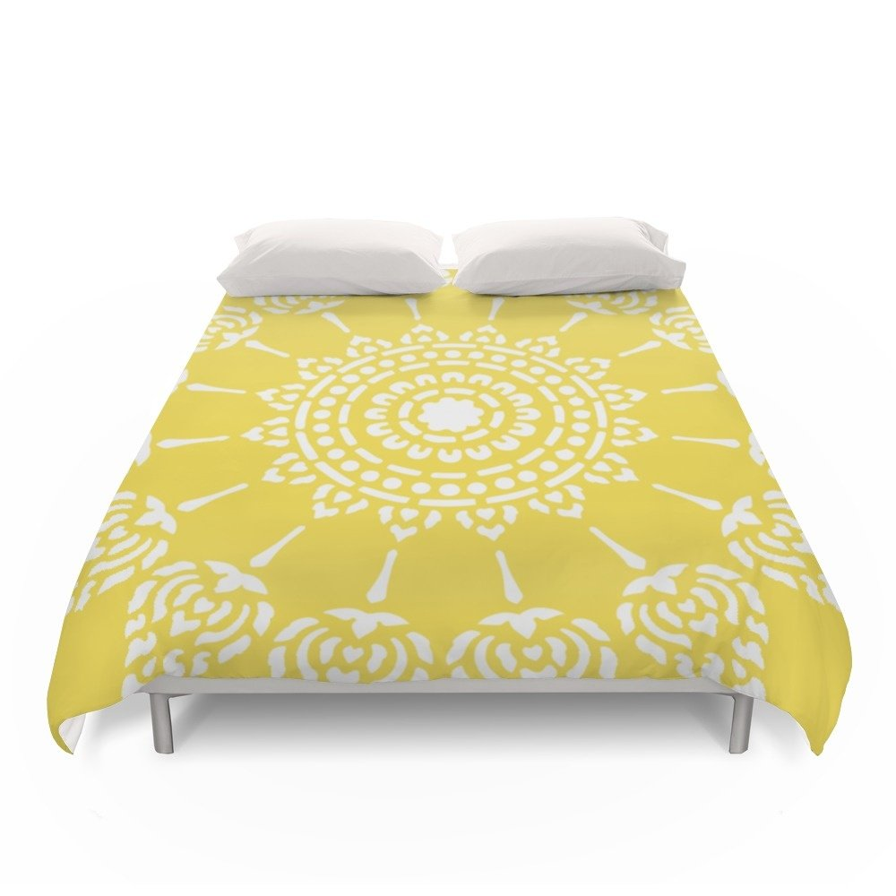 Society6 Thai Sun Yellow Duvet Covers Full: 79'' x 79''