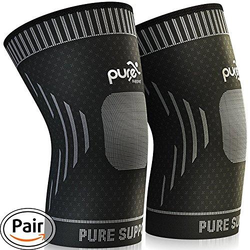 Knee Brace - Premium Compression Knee Sleeve - Knee Support Patella Stabilizer for Meniscus Tear - Arthritis Pain...