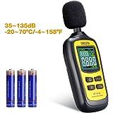 URCERI Avancé Sonomètre Professionnel, 2 Modes Gamme de 35 dB - 135 dB/ Décibelmètre Portable/ Testeur de Décibel/ Écran Rétroéclairé et Numérique