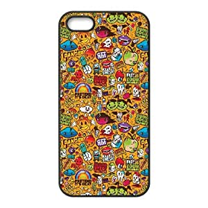 Colorful Sticker Illustrations iPhone 4 4s Cell Phone Case Black DIY present pjz003_6344448