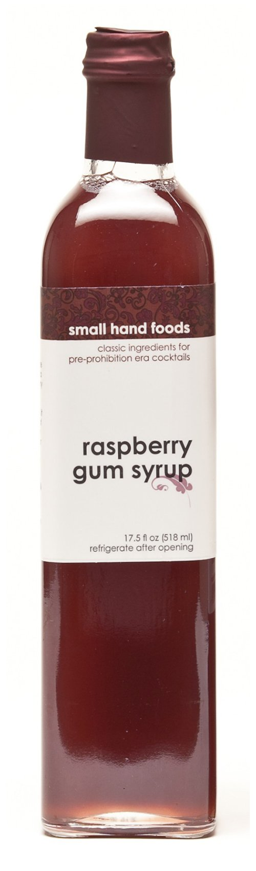 Raspberry Gum Syrup - 17.5 oz by Small Hand Foods