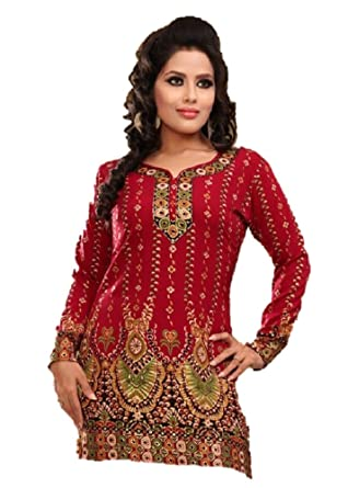 2637cca066a Stars Boutique Ladies Designer Tunic Kurti Blouse Top: Amazon.co.uk:  Clothing