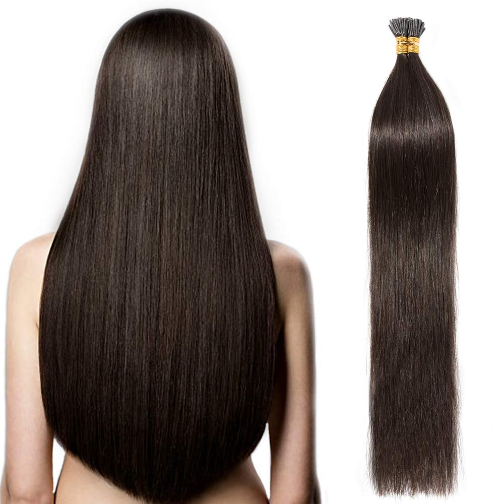 100 Ciocche Capelli Extension Cheratina 0.5g/Ciocca I-Tip Extension 50g 100% Remy Human Hair (20 50cm #60 Biondo Platino) Lady Outlet Mall