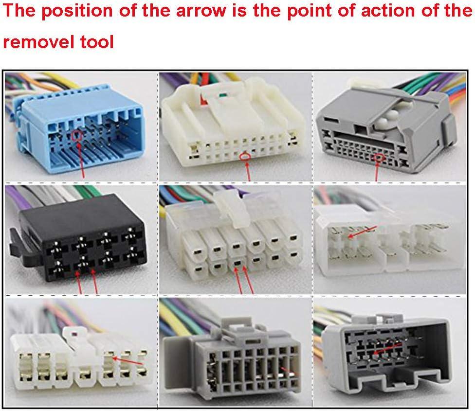 Electrely 26 Stk Kfz Kabel Stecker Ausbau Werkzeug Terminal Steckverbindung Demontage Baumarkt