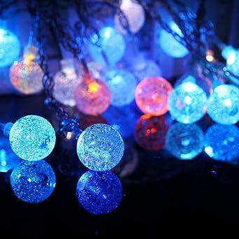 YLSMN Linterna romántica niña bola transparente cadena de luz LED ...