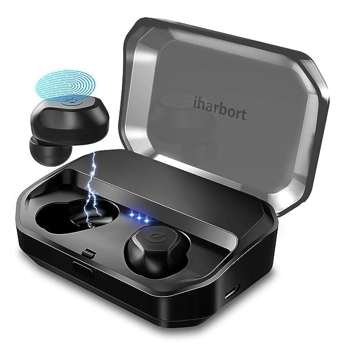 Écouteurs Bluetooth 5.0, FunCee IPX7 étanche Support Acc Hi-Fi de batterie Externe Rechargeable Casque Sans Fil écouteur Jumelage automatique on/Off ...
