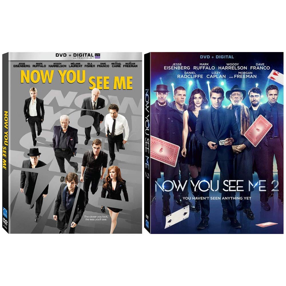 Amazon Com Now You See Me Complete Movies 1 2 Dvd Collection Jesse Eisenberg Mark Ruffalo Morgan Freeman Woody Harrelson Dave Franco Daniel Radcliffe Michael Caine Movies Tv