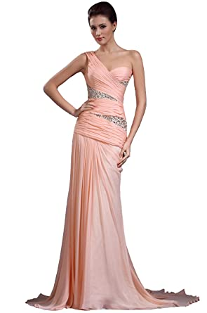9c198eab18d4d eDressit New One Shoulder Pleated Beaded Evening Dress Prom Ball ...