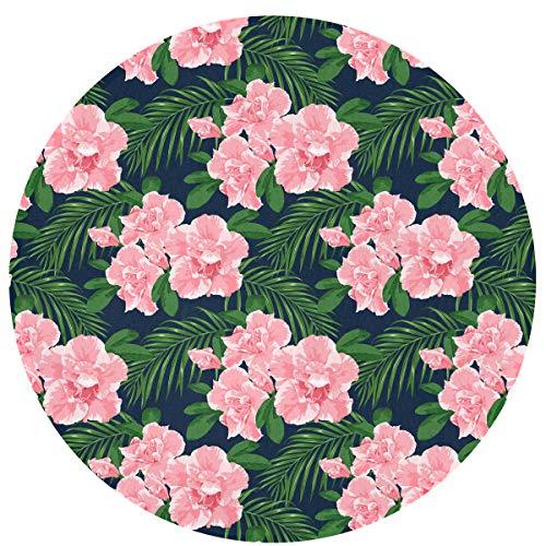 (Pink Azaleas Pattern Welcome Non Slip Doormat Standing Rug)
