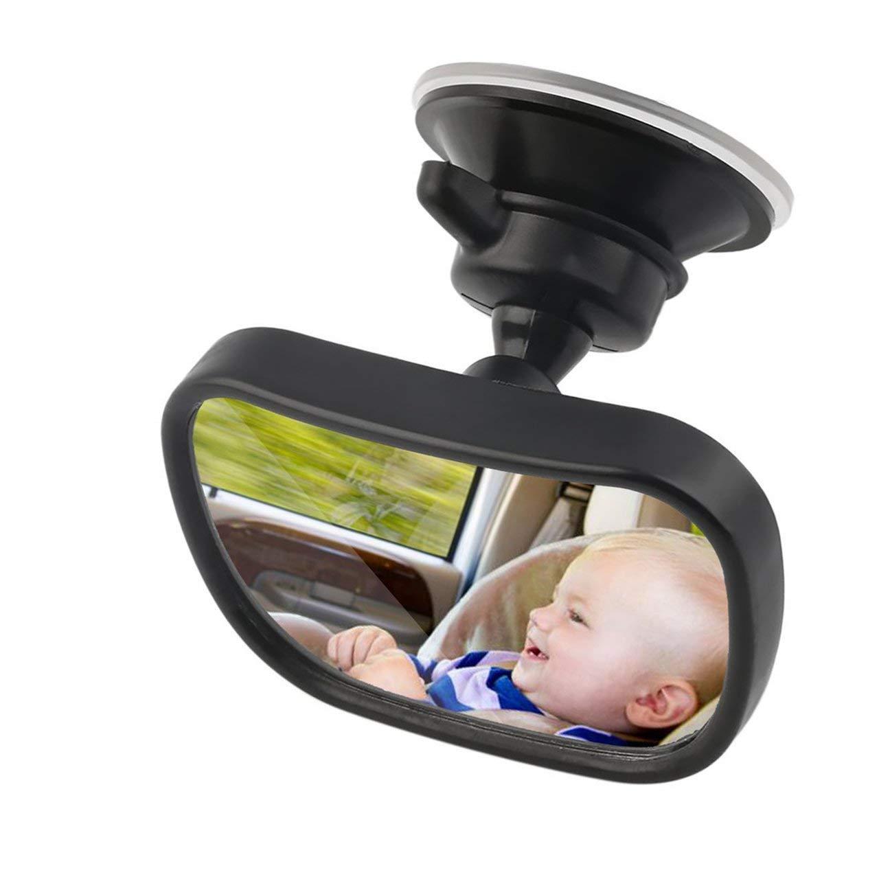 Jasnyfall schwarz 2 in 1 Universal Einstellbare Kunststoff R/ückspiegel Autositz f/ür Baby Kindersicherheit Mit Clip und Saugnapf