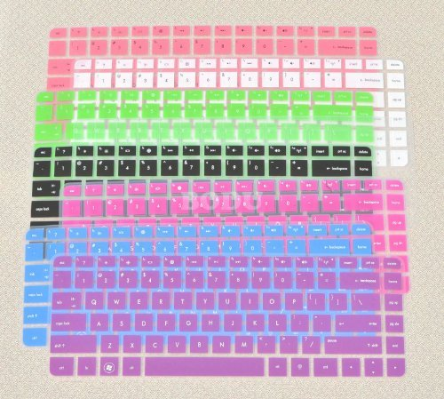 Bodu Colorful Keyboard Protector for HP Pavilion G4 G6 M4;Envy 4 6 15 Pro;DM4 DV4;HP 450 1000 2000;Presario 431 430 450 Q43 CQ57 CQ45 Pavilion TouchSmart 14-B137TX,242 G1 246 G1 (2 Pack Order,See Description) (Hp Keyboard Cover compare prices)
