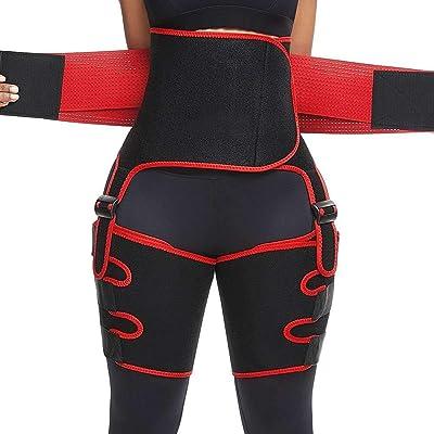 Jeash Everyday Shaping Neoprene Thigh Shaper High Waist Ultra Light Thigh Trimmer Waist Trainer Belt Shaper Weight Loss Sweat Thigh Slimmer Wraps (L): Arts, Crafts & Sewing