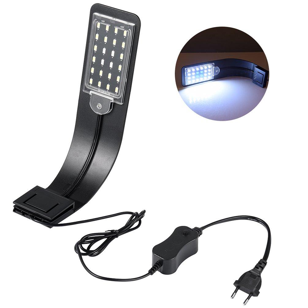 LEDGLE 10W Lámpara de Acuario Ultrafina Compacta Luces de Planta Acuática con Potente Clip-on